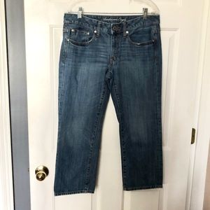 American Eagle Boy Fit Denim Capri Jeans